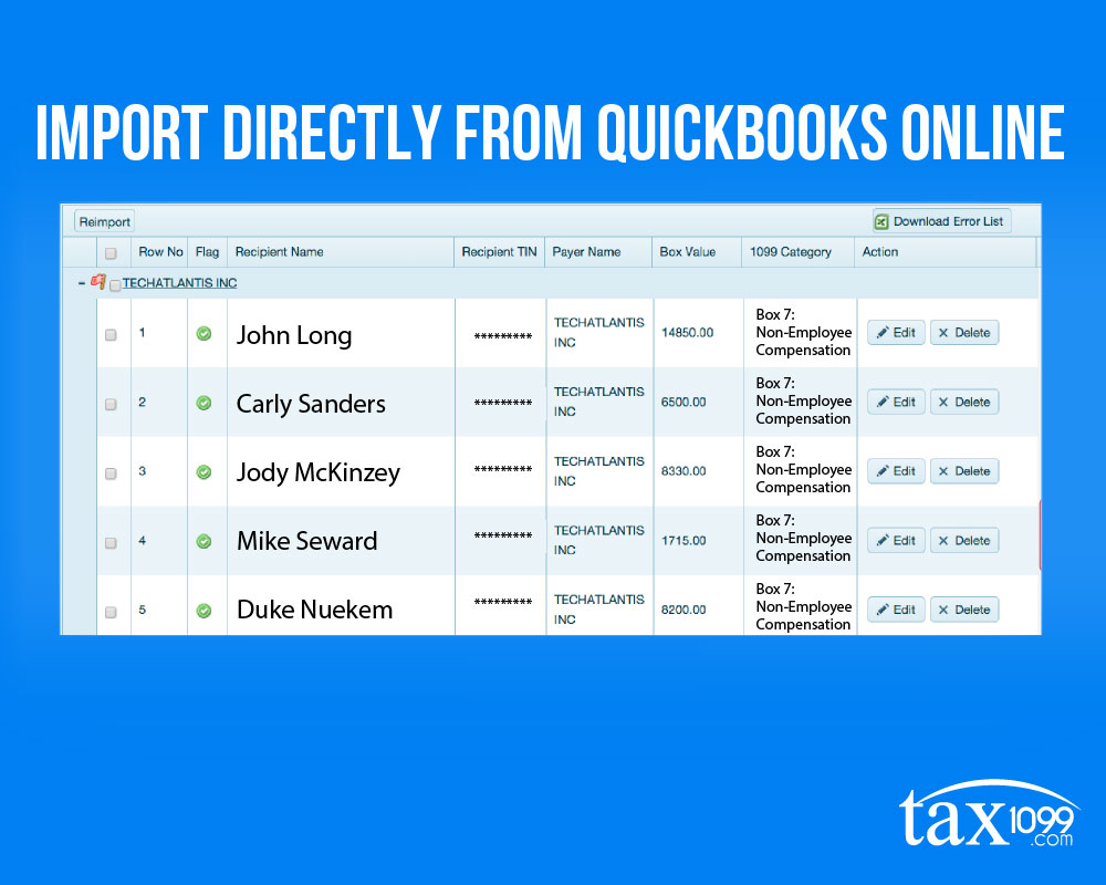 Import From Quickbooks Online
